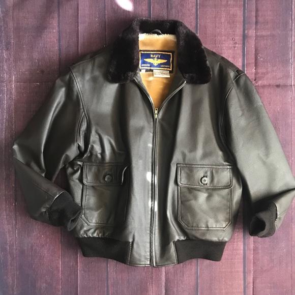 43cfe2761 Vintage Airborne Leathers Bomber Jacket Medium